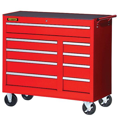 42 Inch 9 drawer Cabinet Red