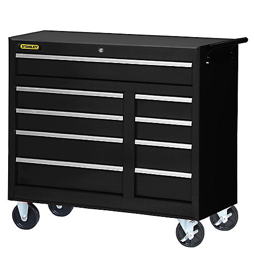 42-inch 9-Drawer Cabinet in  Black