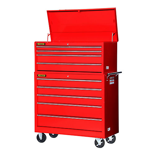 42-inch 4-Drawer Top Chest in Red