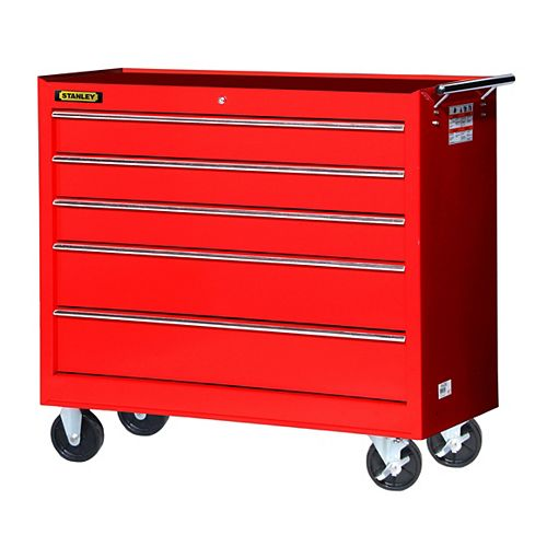 42-inch 5-Drawer Cabinet in Red