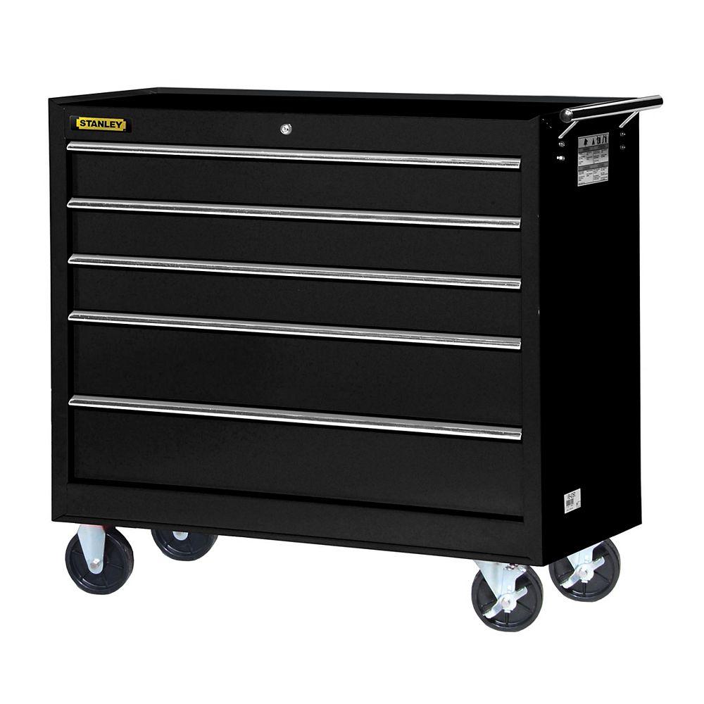 STANLEY 42-inch 5-Drawer Cabinet in Black