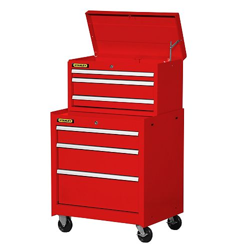 27-inch 6-Drawer Combination Set in Red