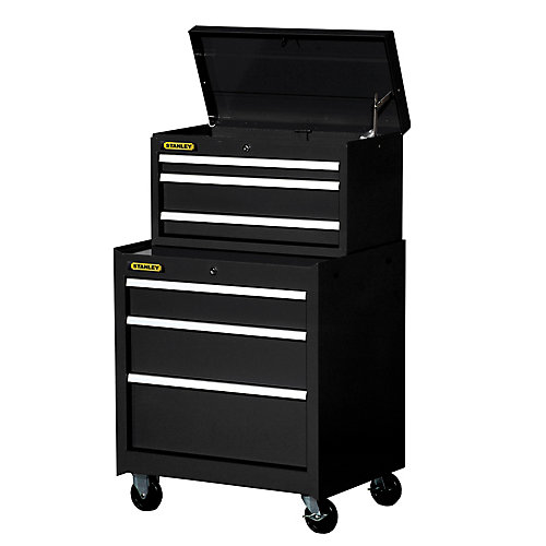 27-inch 6-Drawer Combination Set in Black