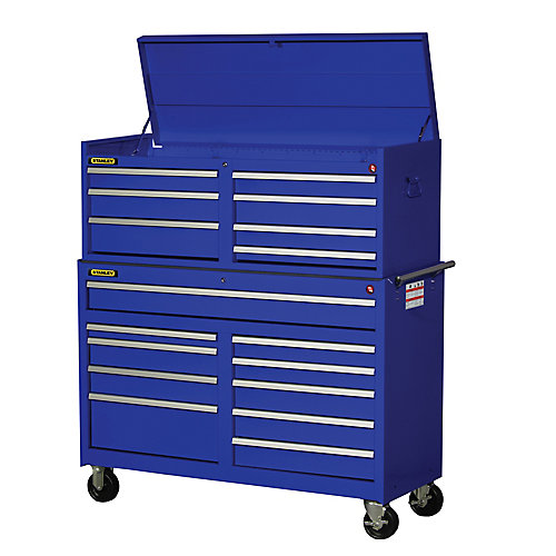 54-inch 17-Drawer Combination Set in Blue