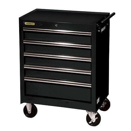 27-inch 5-Drawer Cabinet in Black