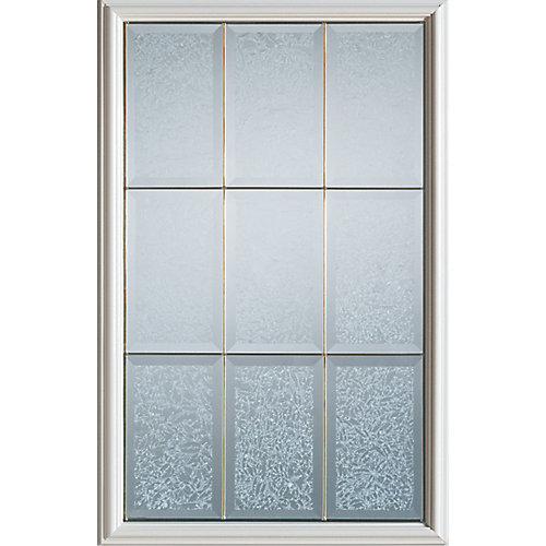 23 inch x 37 inch Diana Brass Caming 1/2 Lite Decorative Glass Insert - ENERGY STAR®