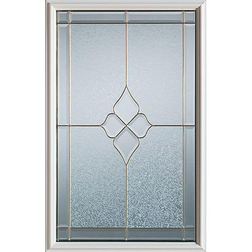 STANLEY Doors Demi-verre décoratif Geometric avec baguettes en laiton