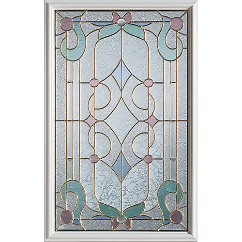 23 inch x 37 inch Aristocrat Patina Caming 1/2 Lite Decorative Glass Insert