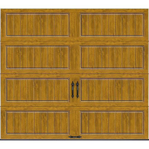 Porte de garage Collection Gallery 8pi x 7pi Valeur R 18.4 isolée en ployuréthane Intellicore Ultra Grain Fini Pâle
