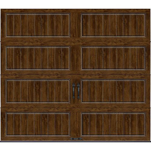 Porte de garage Collection Gallery 8pi x 7pi Valeur R 18.4 isolée en ployuréthane Intellicore Ultra Grain Fini Noyer