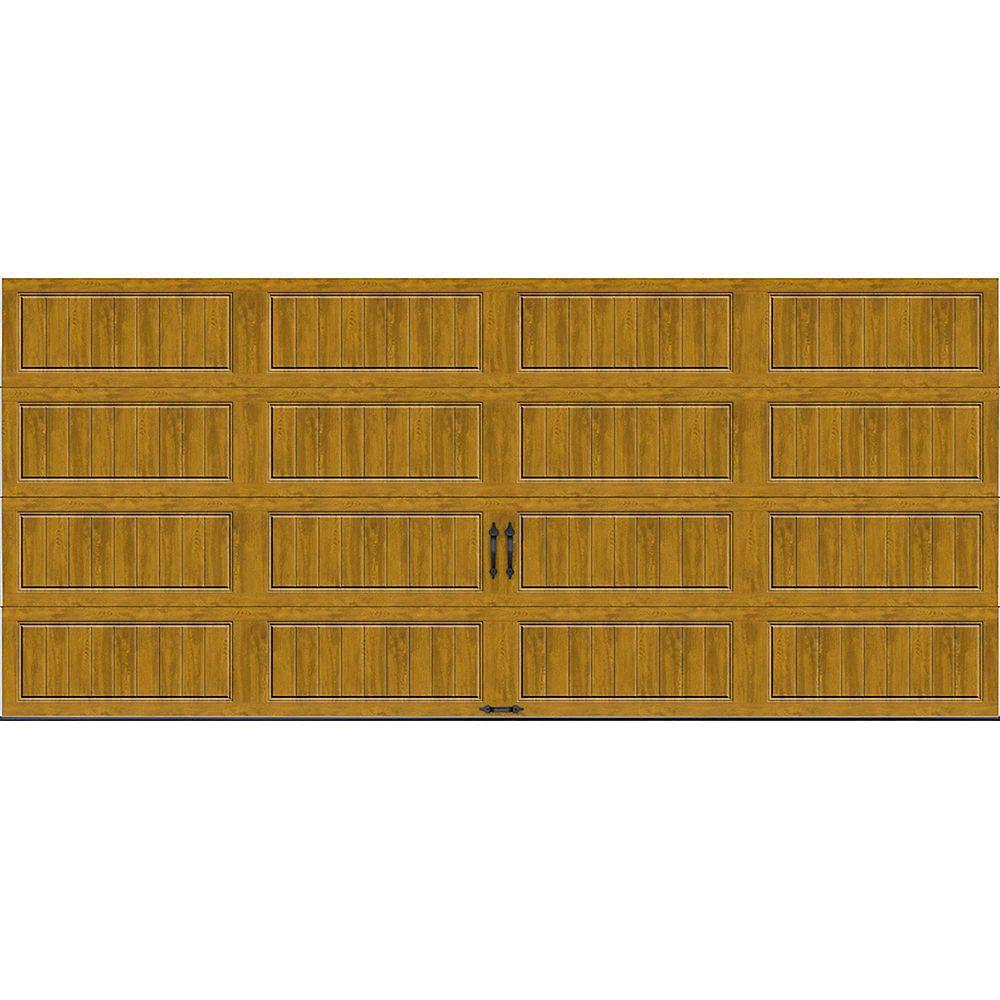 Clopay Porte de garage Collection Gallery 16pi x 7pi Valeur R 18.4 isolée en ployuréthane Intellicore Ultra Grain Fini Pâle