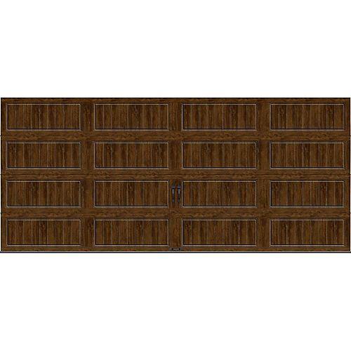 Porte de garage Collection Gallery 16pi x 7pi Valeur R 18.4 isolée en ployuréthane Intellicore Ultra Grain Fini Noyer