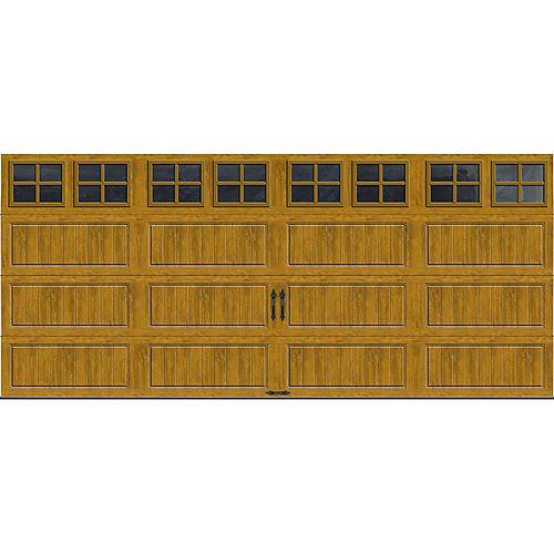 Porte de garage Collection Gallery 16pi x 7pi Valeur R 18.4 isolée en ployuréthane Intellicore Fini Pâle Fenêtres SQ22