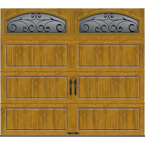 Clopay Porte de garage Collection Gallery 8pi x 7pi Valeur R 18.4 isolée en ployuréthane Intellicore Fini Pâle Fenêtres