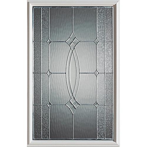 23 inch x 37 inch Diamanti Zinc Caming 1/2 Lite Decorative Glass Insert