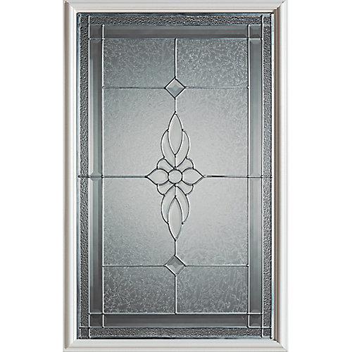 23 inch x 37 inch Victoria Zinc Caming 1/2 Lite Decorative Glass Insert