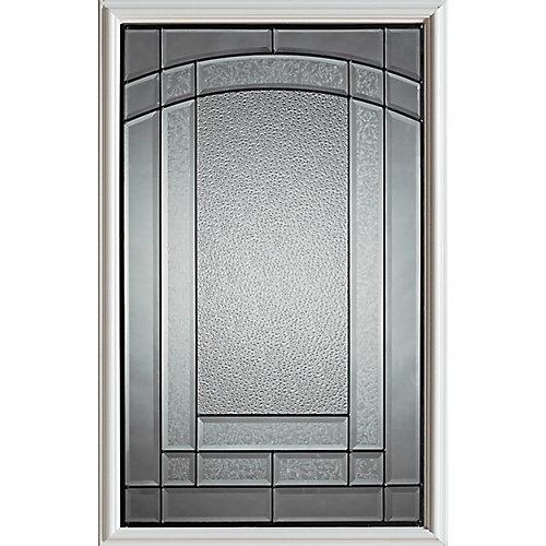 23 inch x 37 inch Chatham Patina Caming 1/2 Lite Decorative Glass Insert
