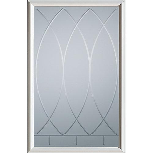 23 inch x 37 inch Bourgogne 1/2 Lite Decorative Glass Insert