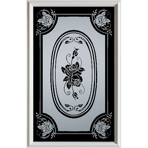23 inch x 37 inch Mâtisse 1/2 Lite Decorative Glass Insert