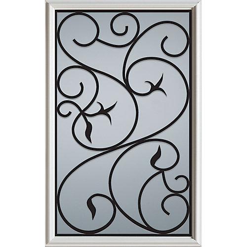 23 inch x 37 inch Borduas 1/2 Lite Decorative Glass Insert