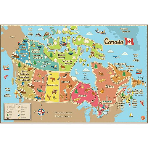 Kids Canada Dry Erase Map Decal
