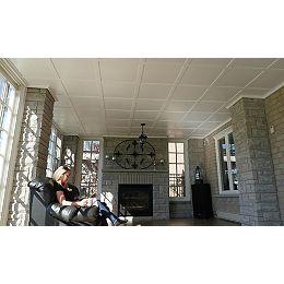 Trousse pour 64 pi² (6 m²) Blanc 2,5 x 6,5 x 96 po (64 x 165 x 2438 mm)