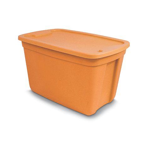 Orange Plastic Storage Totes, Orange Plastic Storage Totes