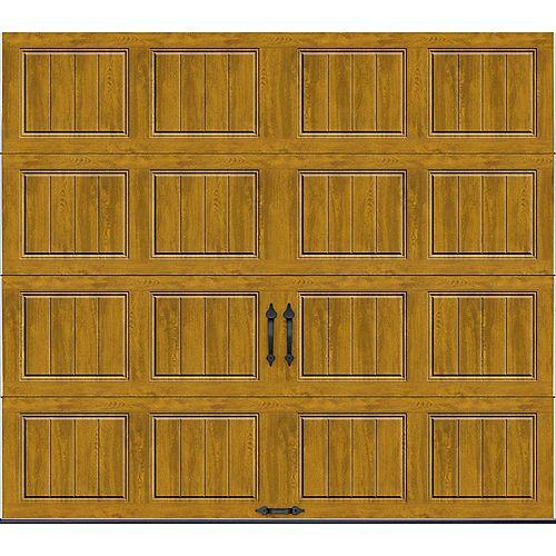 Porte de garage Collection Gallery 9pi x 7pi Valeur R 18.4 isolée en ployuréthane Intellicore Ultra Grain Fini Pâle