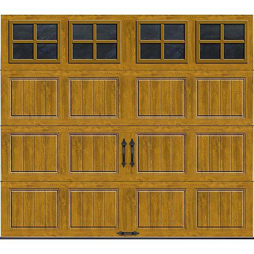 Porte de garage Collection Gallery 8pi x 7pi Valeur R 18.4 isolée en ployuréthane Intellicore Fini Pâle Fenêtres SQ22