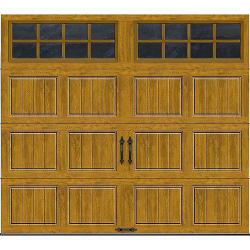Porte de garage Collection Gallery 8pi x 7pi Valeur R 18.4 isolée en ployuréthane Intellicore Fini Pâle Fenêtres SQ24