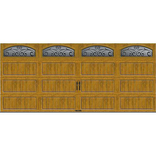 Porte de garage Collection Gallery 16pi x 7pi Valeur R 18.4 isolée en ployuréthane Intellicore Fini Pâle Fenêtres