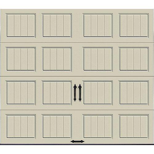 Porte de garage Collection Gallery 8pi x 7pi Valeur R 6.5 isolée en polystyrène Dune