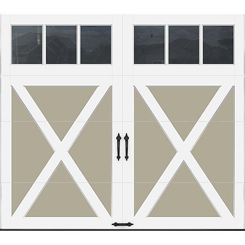 Porte de garage Collection Coahman 8 pi x 7 pi Valeur R 18.4 isolée en polyuréthane intellicore Sable Fenêtres REC13