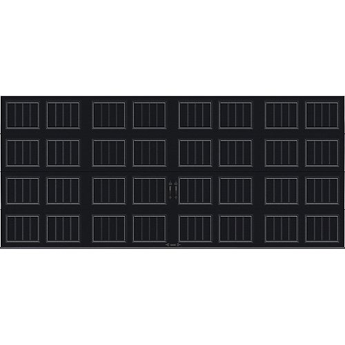 Porte de garage Collection Gallery 16 pi x 7 pi Valeur R 18.4 isolée en ployuréthane Intellicore Sable