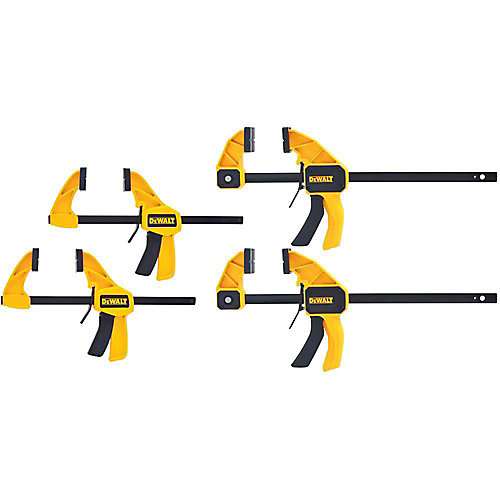 6-inch and 12-inch 300 lb. Trigger Clamps Set (4-Pack) w/3.25 Throat Depth