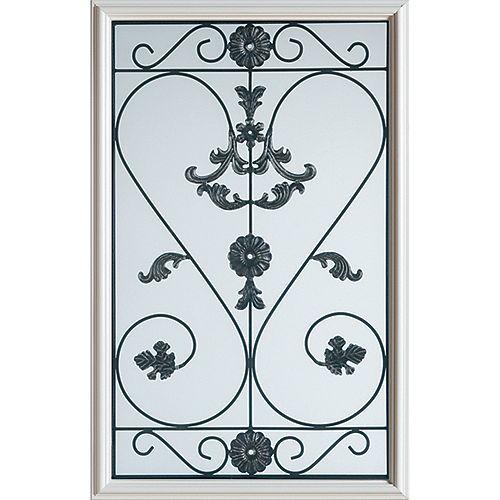STANLEY Doors Demi-verre décoratif fer forgé