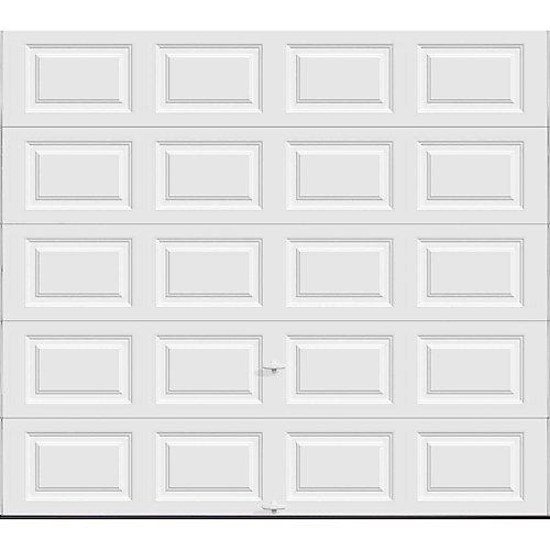 Premium Series 9 ft. x 8 ft. 18.4 R-Value Intellicore Insulated Solid White Garage Door