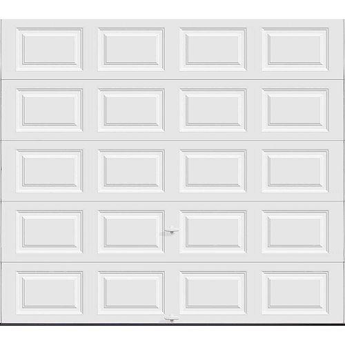 Porte de garage Série Première 9pi x 8pi Valeur R 18.4 isolée en polyuréthane Intellicore Blanche