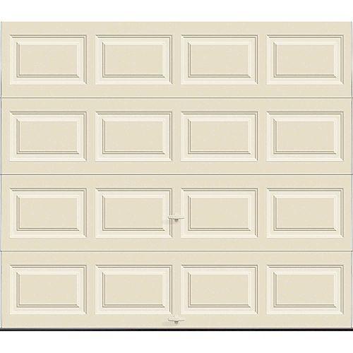 Porte de garage Série Première 8pi x 7pi Valeur R 12.9 isolée en polyuréthane Intellicore Amande