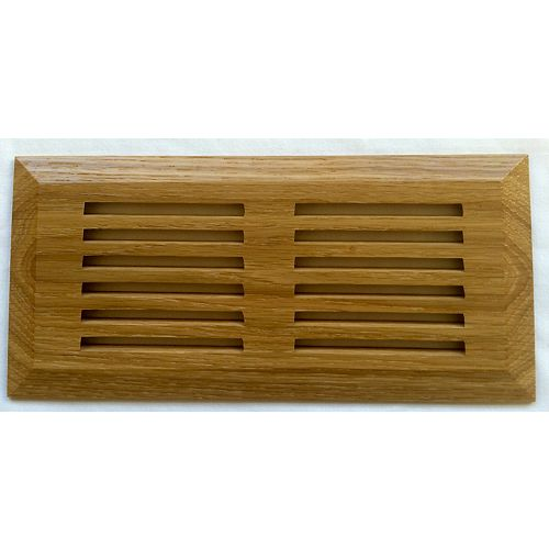 American White Oak Natural Top Mount Register 4 Inchx10 Inch