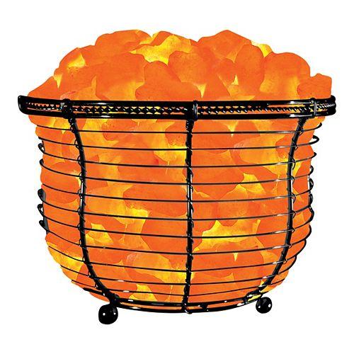 6.75-inch Ionic Crystal Natural Salt 9-11 lbs. Tall Basket Lamp