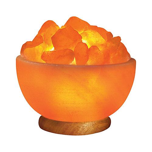 Lampe-bol sculptée à la main en sel ionique de lHimalaya