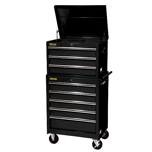 27-Inch 8-Drawer Combination Set in Black