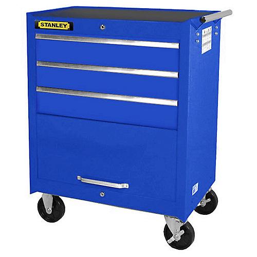 27 Inch 3 drawer, 1 door Cabinet, Blue