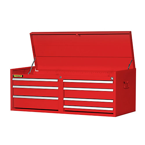 54-inch 7-Drawer Top Chest in Red