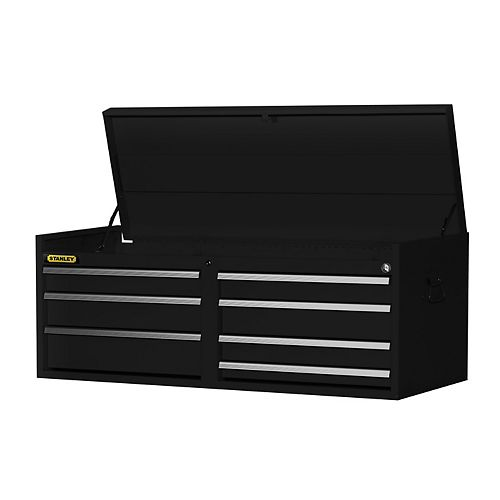 54-inch 7-Drawer Top Chest in Black