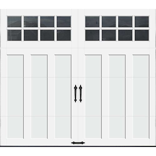 Coachman Collection 8 ft. x 7 ft. Intellicore Insulated White Garage Door with SQ24 Window