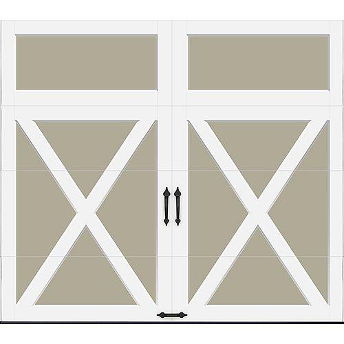 Porte de garage Collection Coahman 8 pi x 7 pi Valeur R 18.4 isolée en polyuréthane intellicore Sable