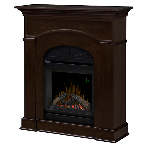 Bronte Electric Fireplace with 20 In. Firebox with Remote In an Mocha Finish