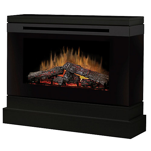 Slater Electric Fireplace with Smoked Glass and Metallic Beltline